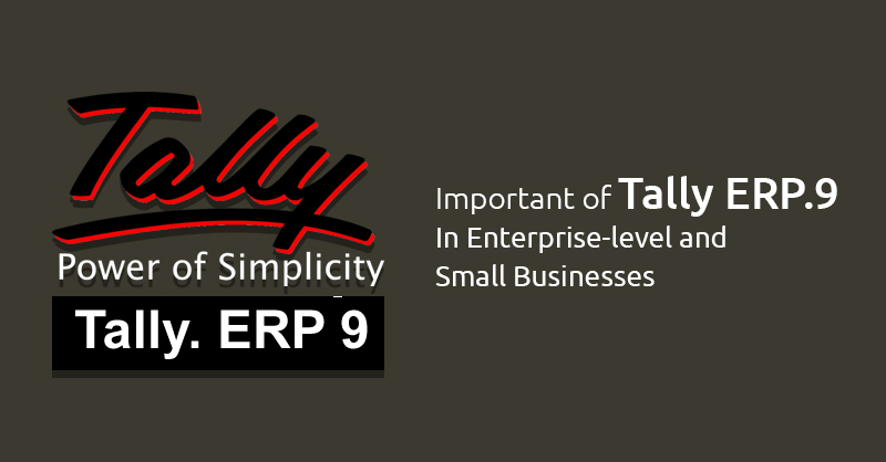 Important Of Tally ERP.9 In Enterprise-level and Small Businesses